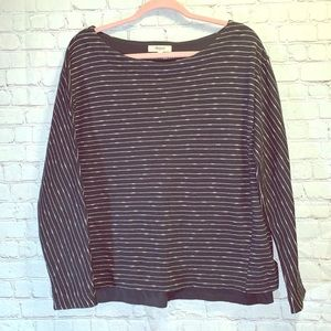 MADEWELL Striped Boat Neck Lightweight Sweater